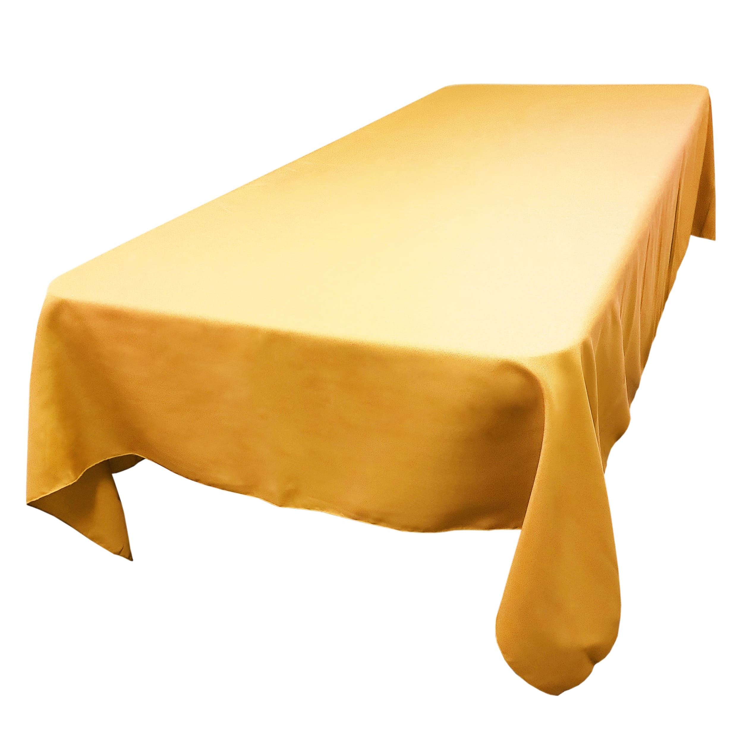 Gold 60 x 144 in.  Rectangular SimplyPoly Tablecloths