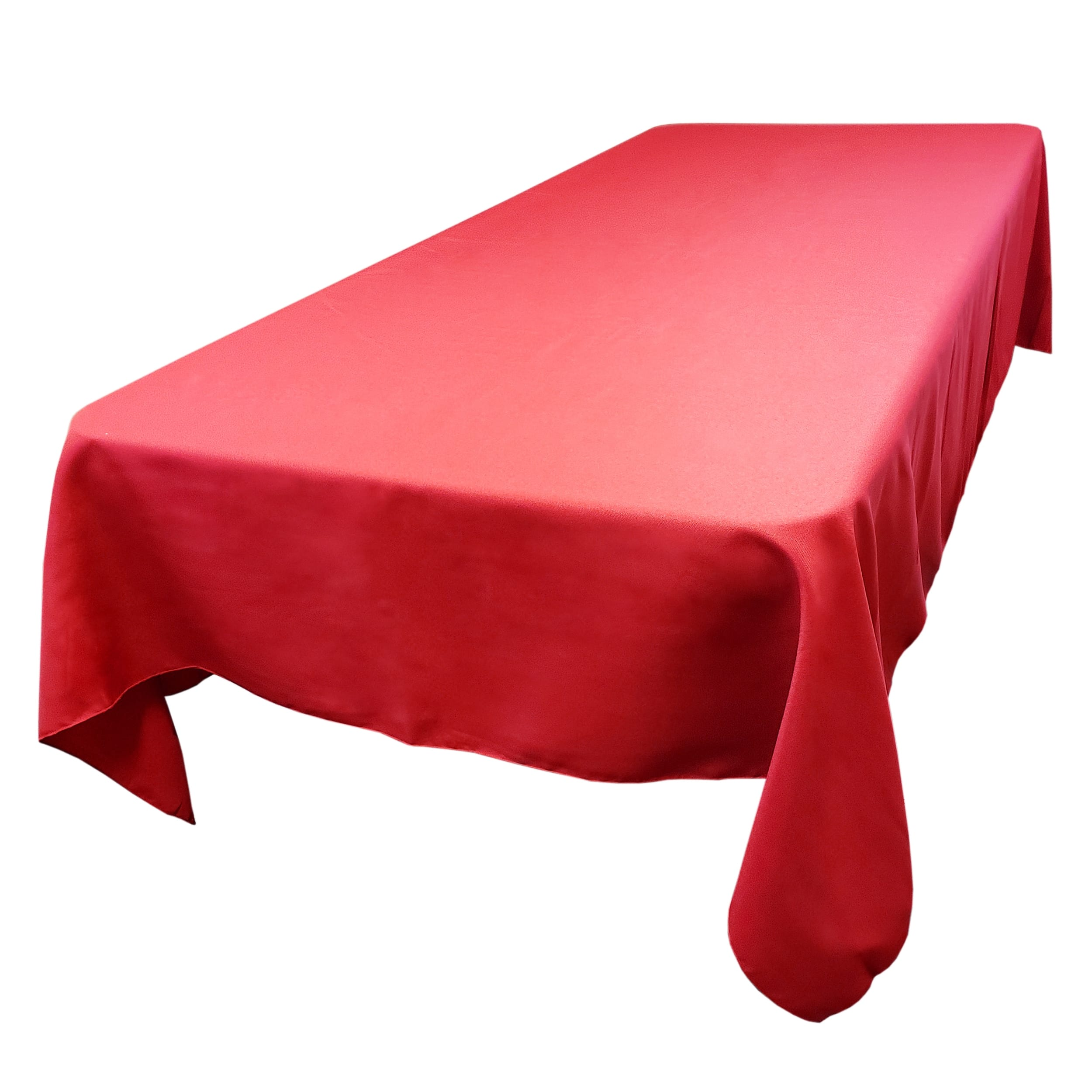 Holiday Red 72 x 108 in.  Rectangular SimplyPoly Tablecloths