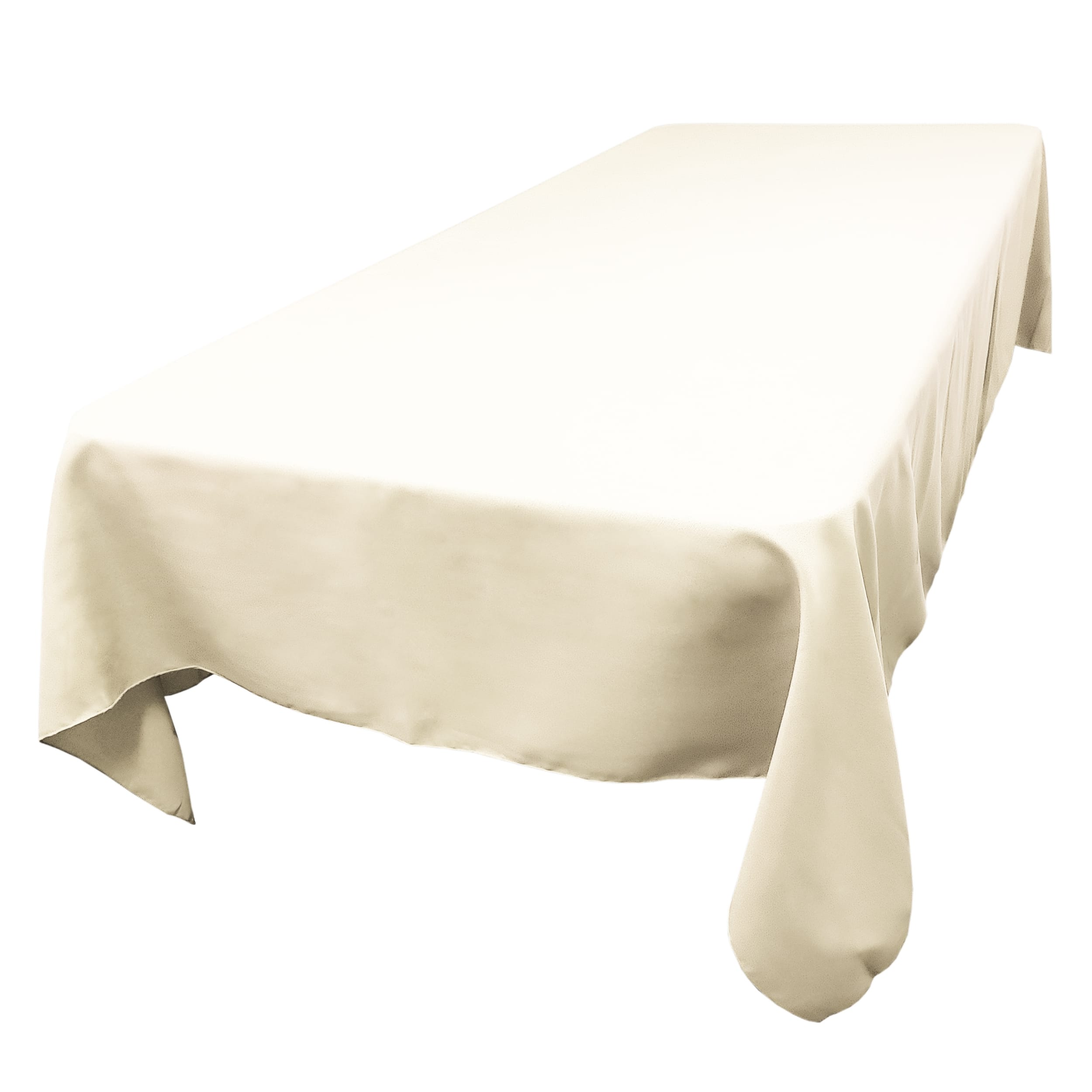 Ivory 60 x 144 in.  Rectangular SimplyPoly Tablecloths