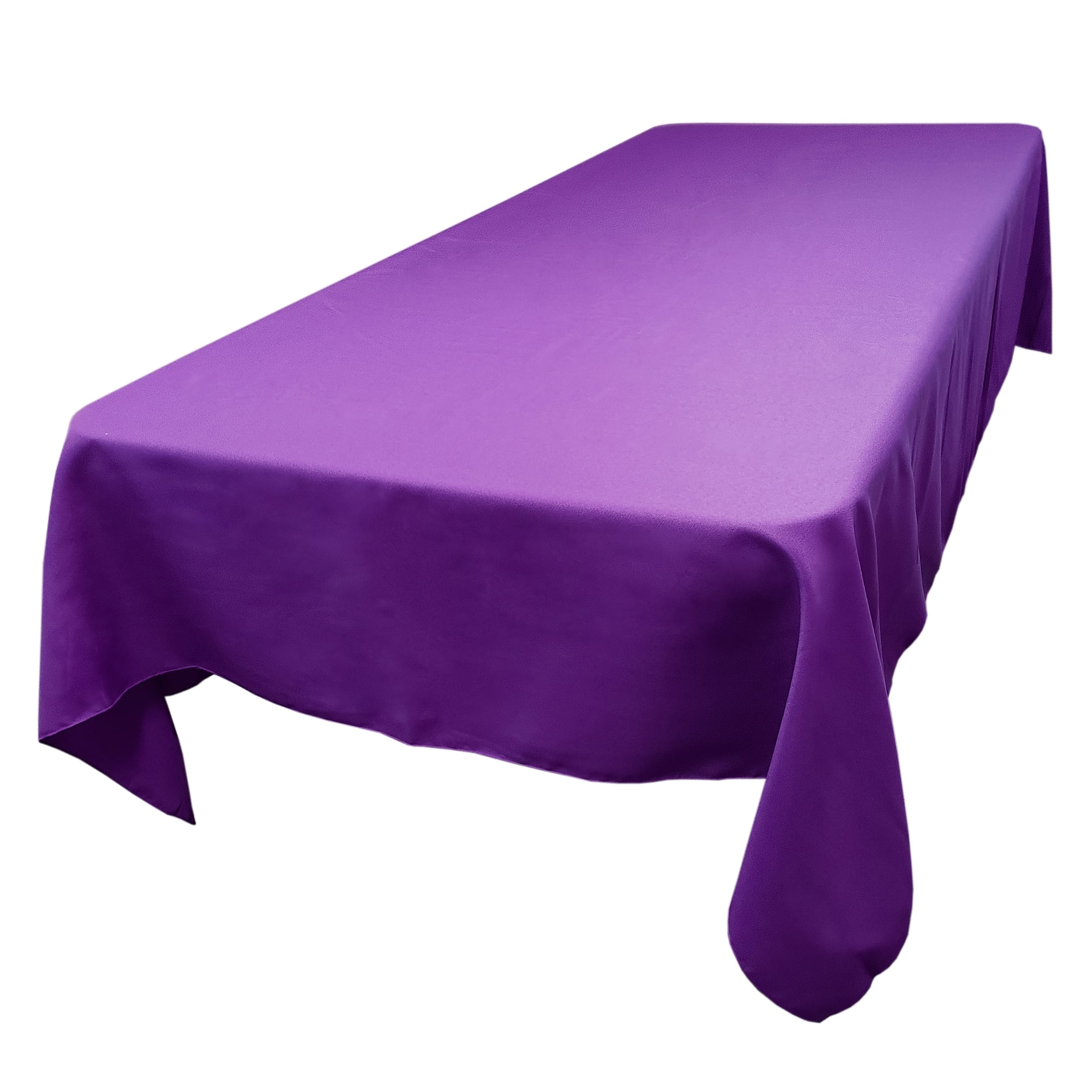 Purple 60 x 144 in.  Rectangular SimplyPoly Tablecloths