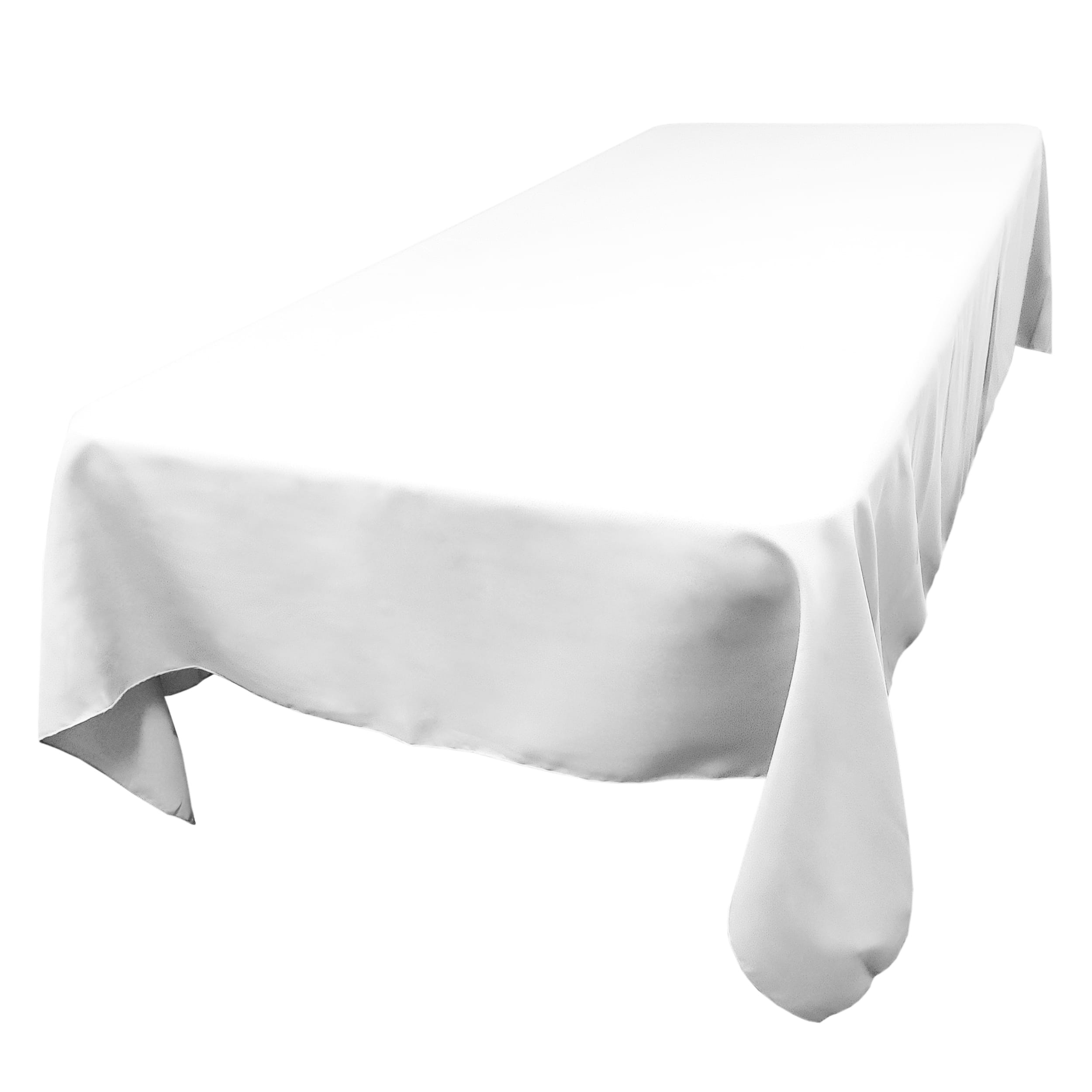 White 60 x 144 in.  Rectangular SimplyPoly Tablecloths