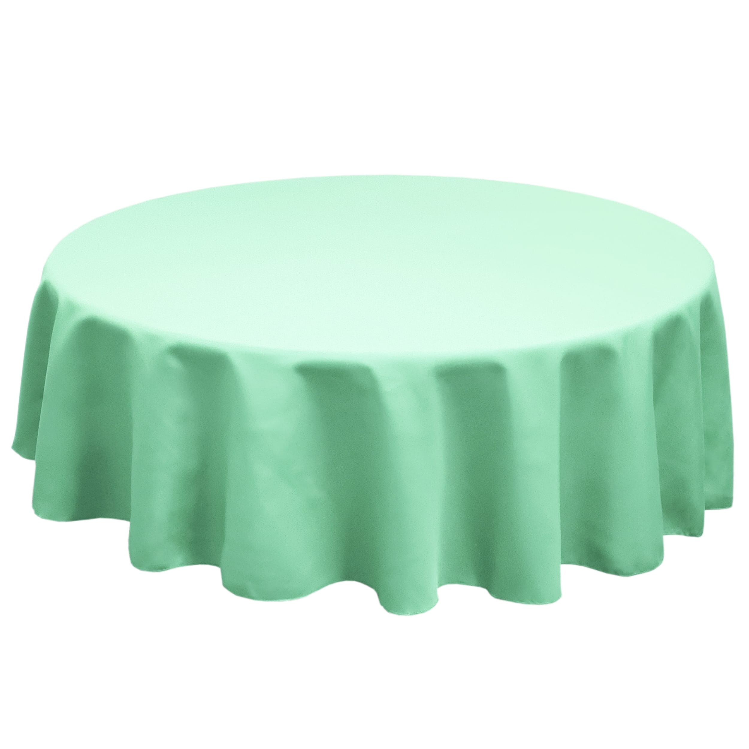 Aqua 84 in.  Round SimplyPoly Tablecloths