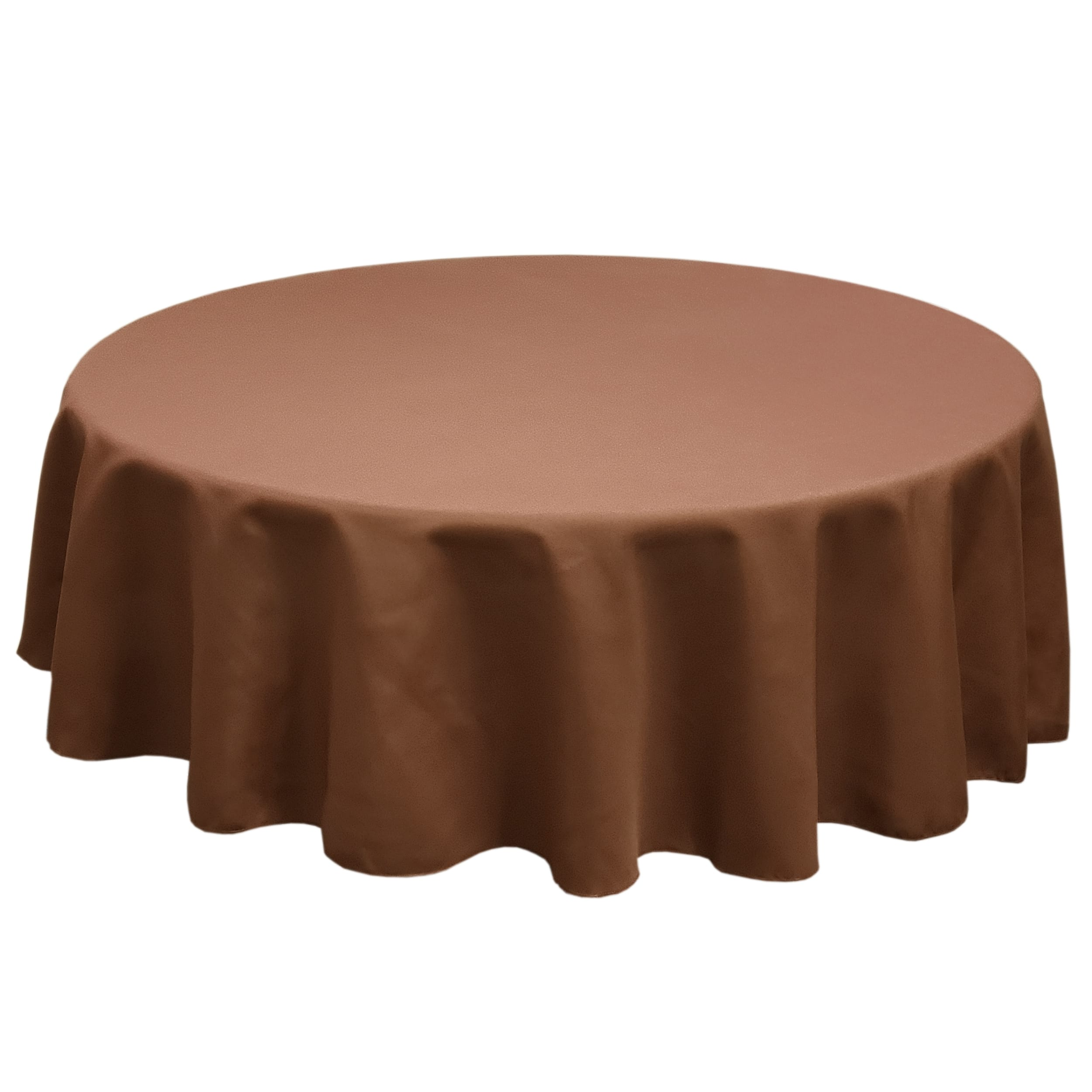 Chocolate 90 in.  Round SimplyPoly Tablecloths