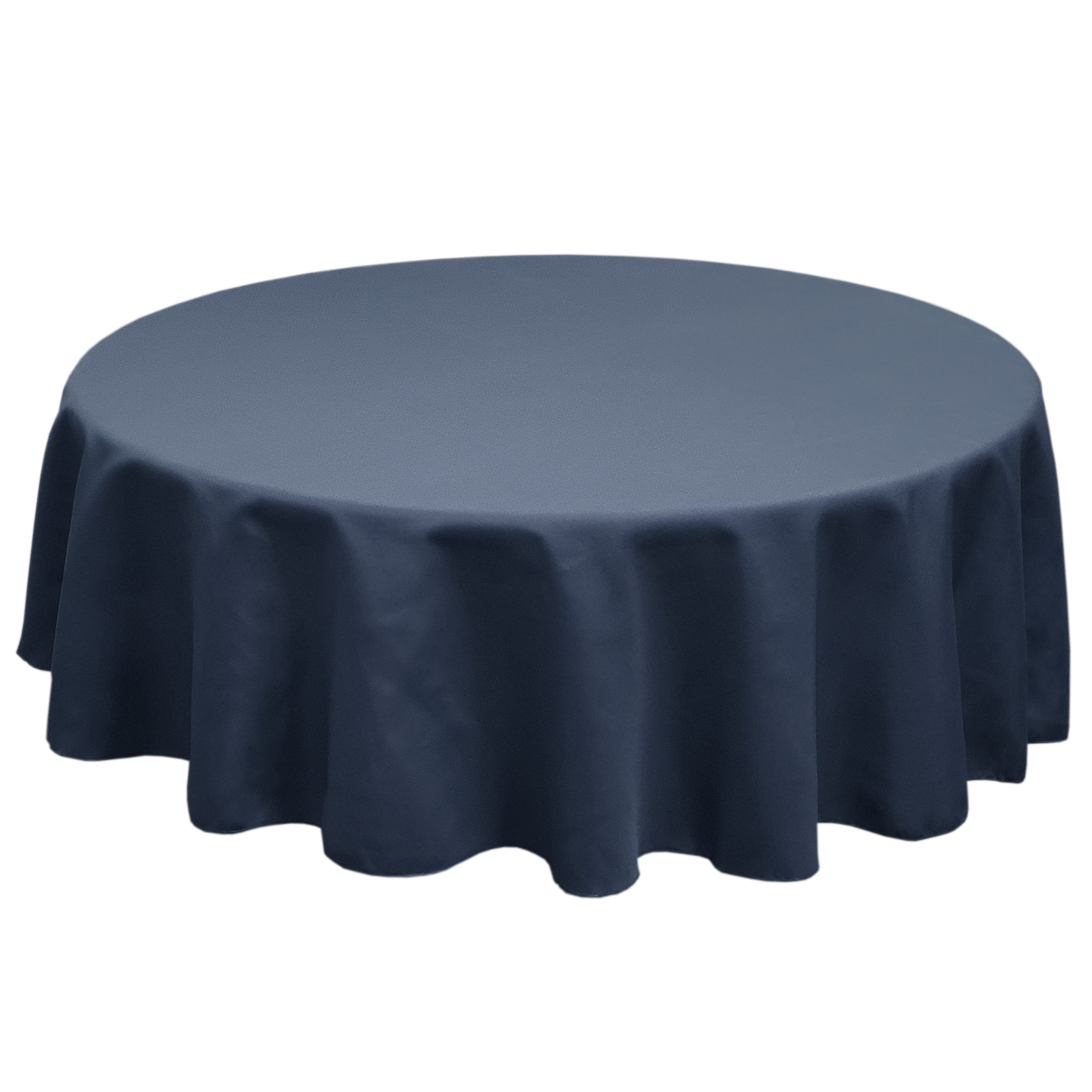 Dark Blue 120 in.  Round SimplyPoly Tablecloths