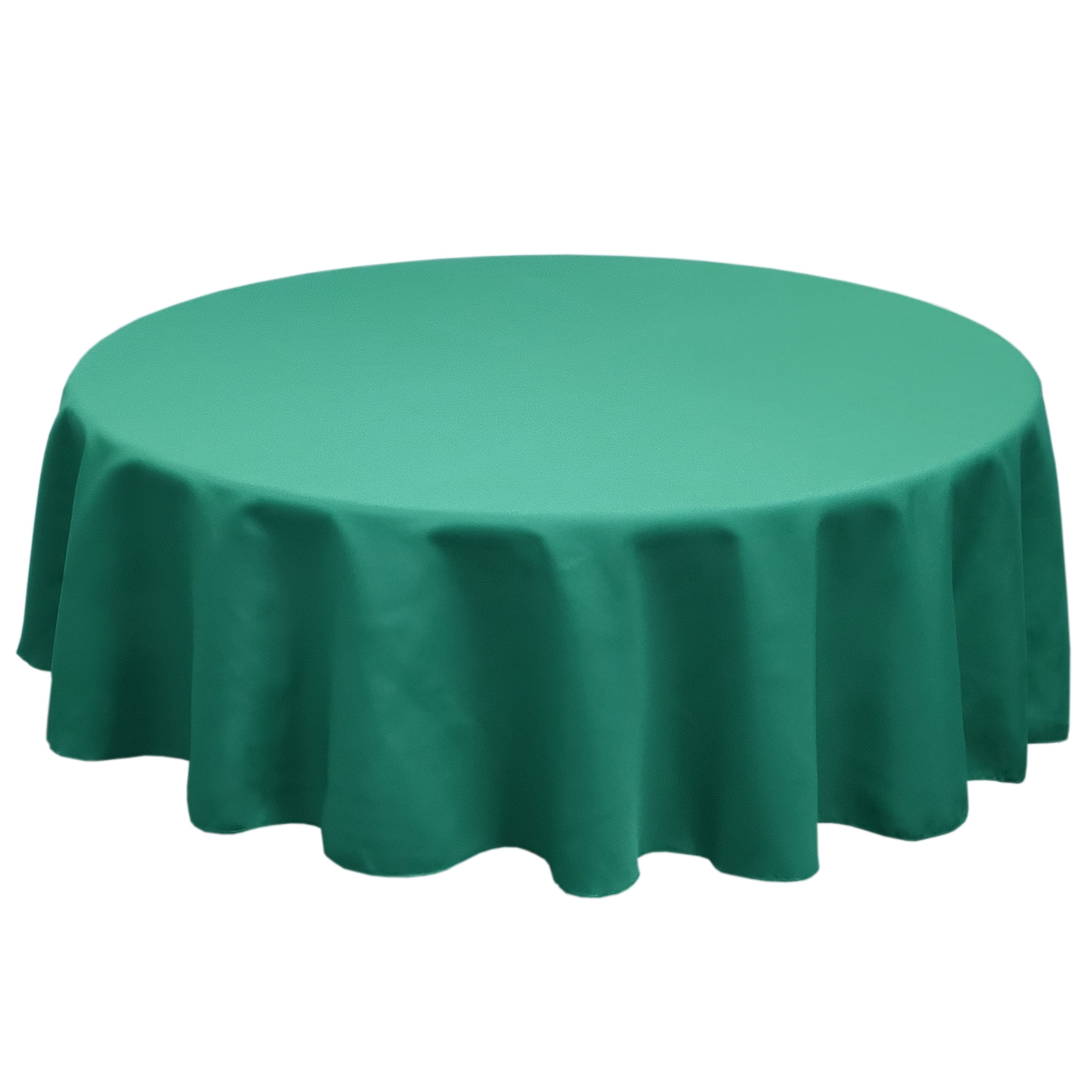 Dark Teal 84 in.  Round SimplyPoly Tablecloths
