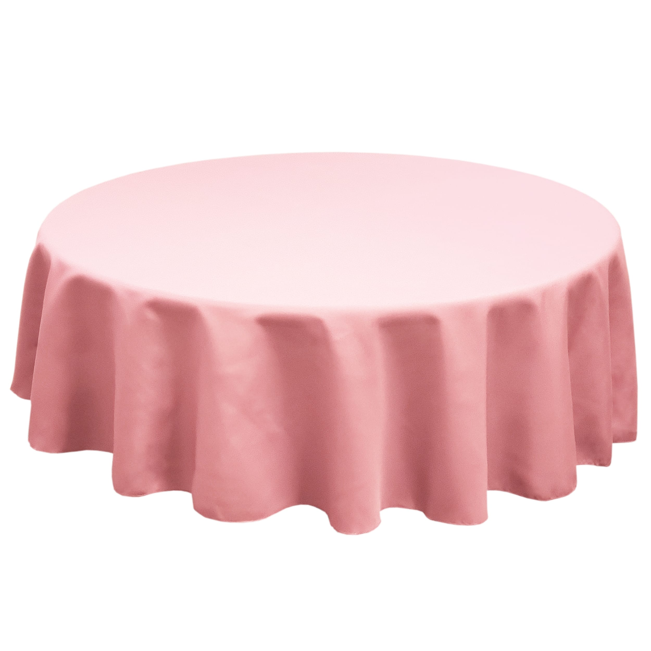 Pink 120 in.  Round SimplyPoly Tablecloths