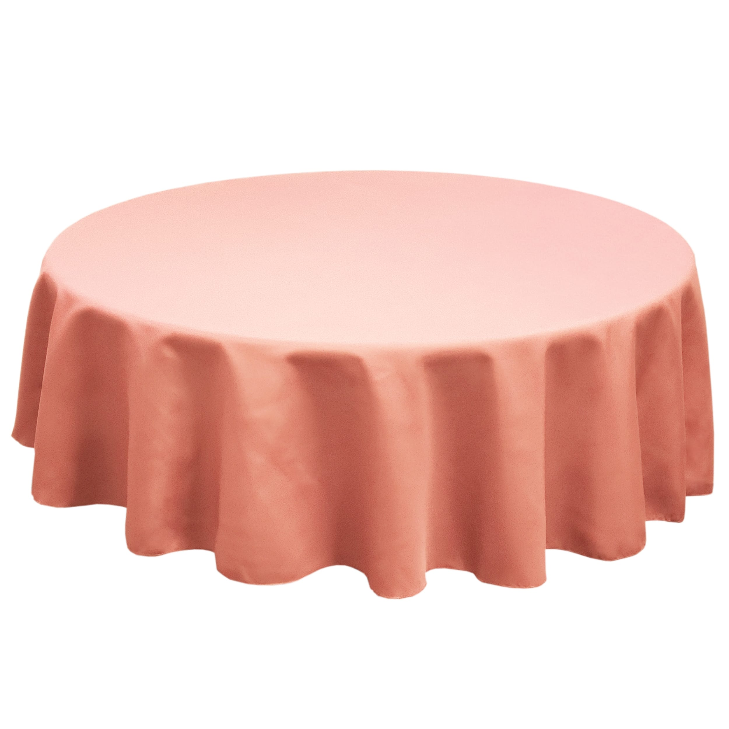 Coral 120 in.  Round SimplyPoly Tablecloths