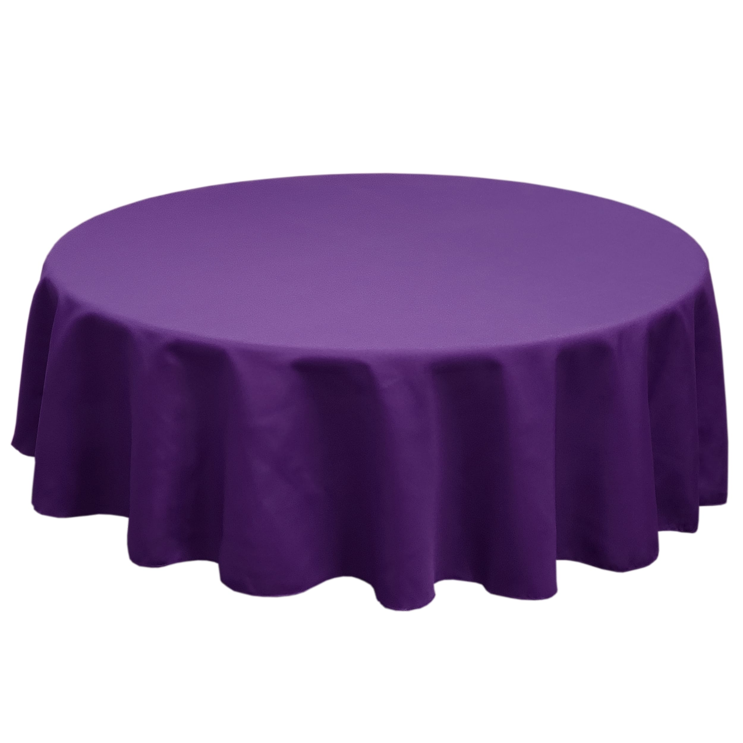 Eggplant 84 in.  Round SimplyPoly Tablecloths