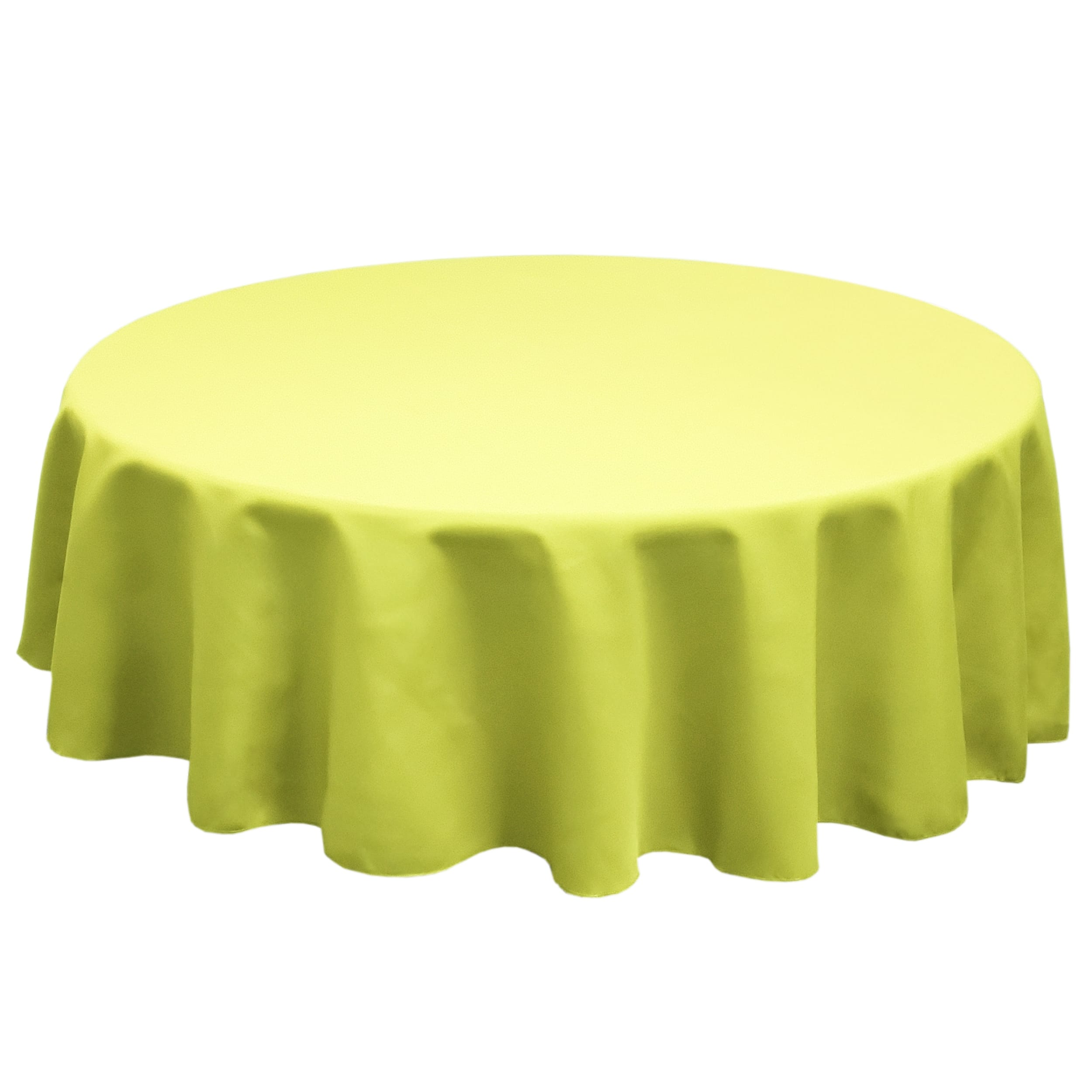 Green Apple 132 in.  Round SimplyPoly Tablecloths