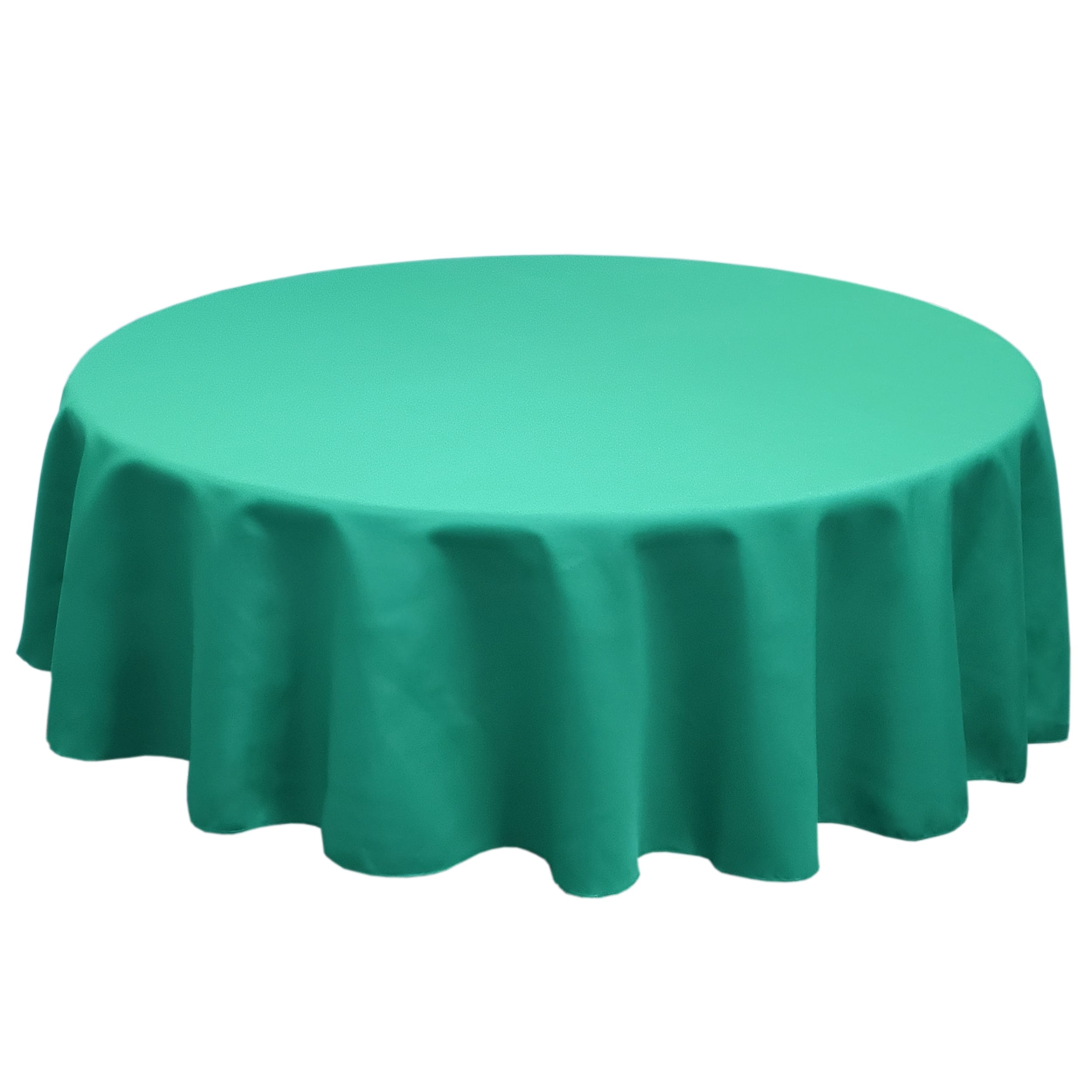 Jade 84 in.  Round SimplyPoly Tablecloths