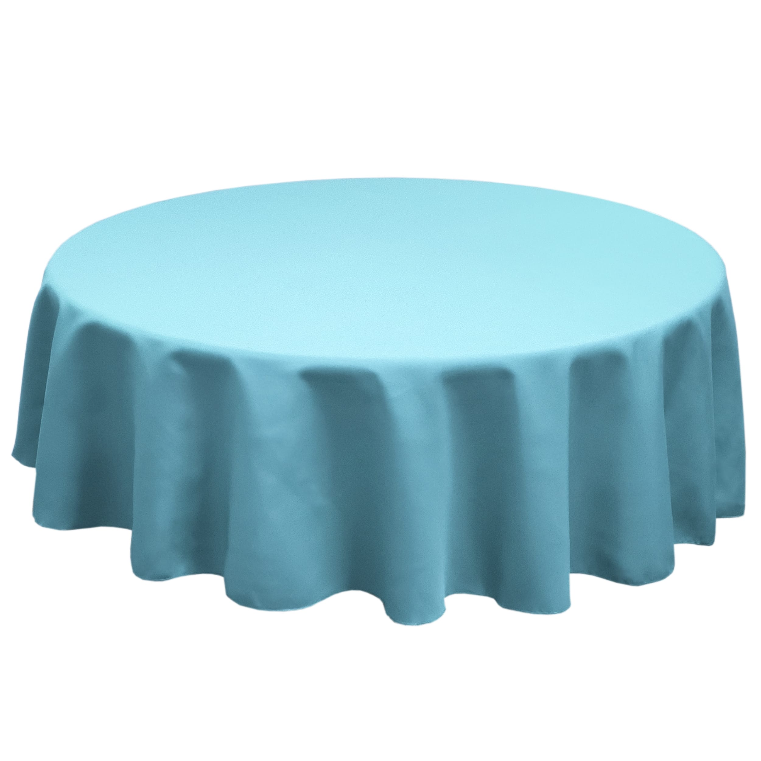 Sky Blue 126 in.  Round SimplyPoly Tablecloths
