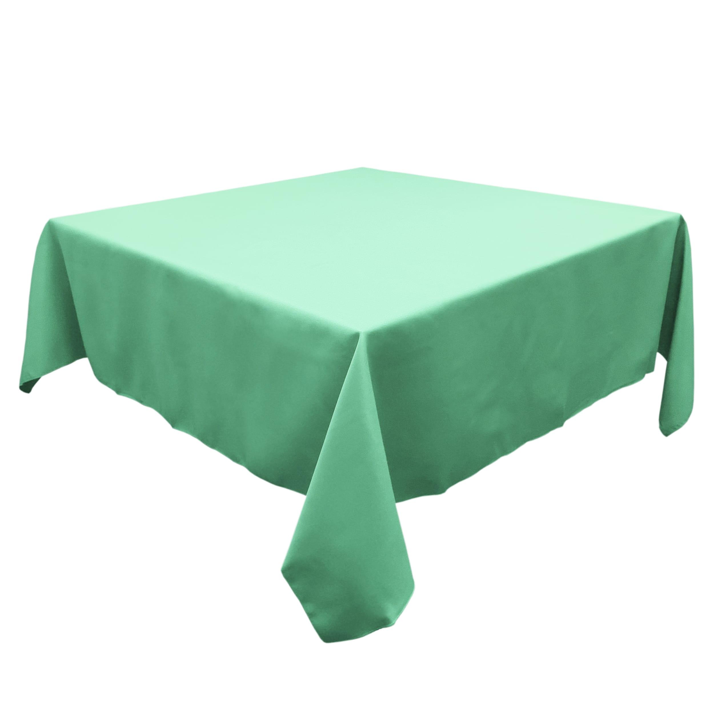 Aqua 60 in.  Square SimplyPoly Tablecloths