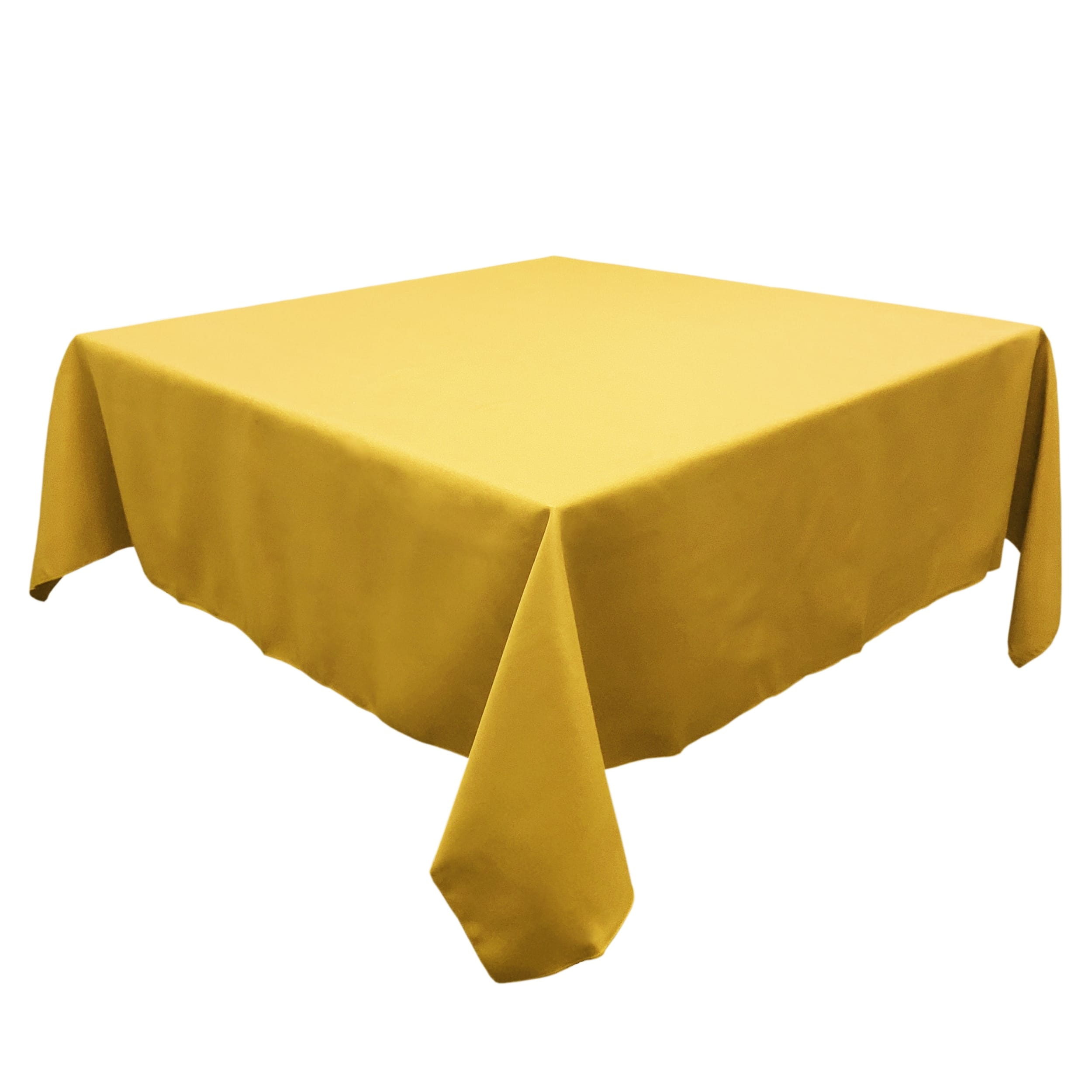 Dark Lemon 72 in.  Square SimplyPoly Tablecloths