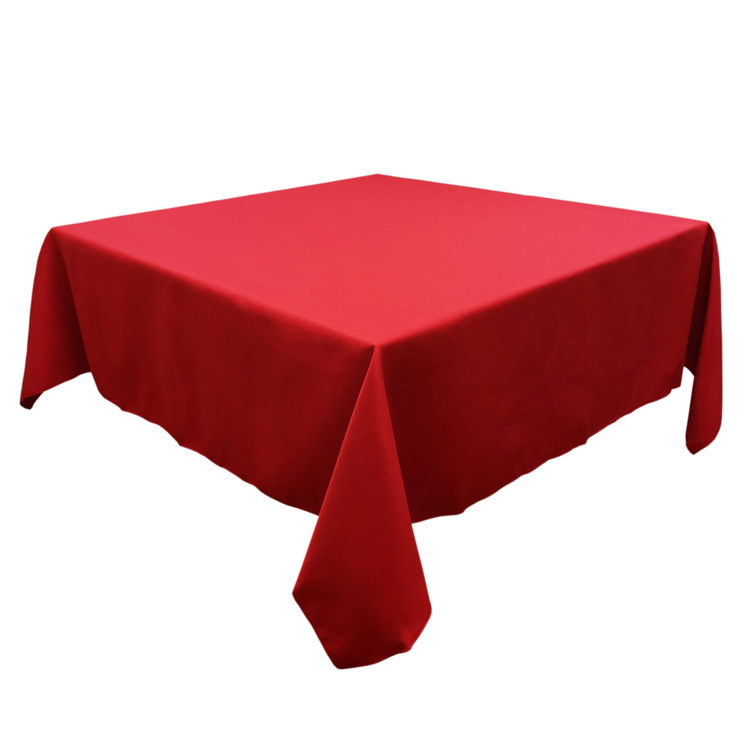 Holiday Red 72 in.  Square SimplyPoly Tablecloths