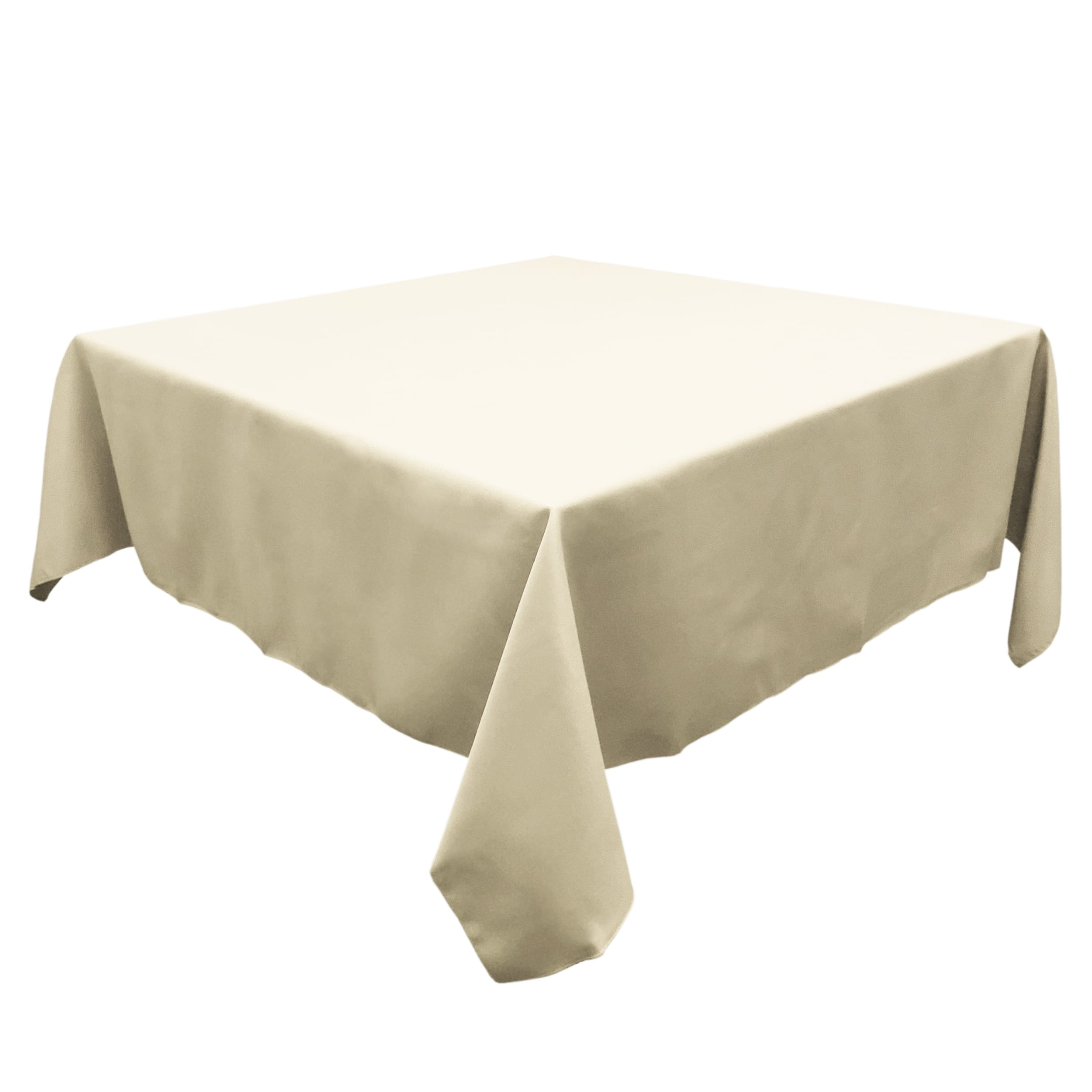 Ivory 72 in.  Square SimplyPoly Tablecloths
