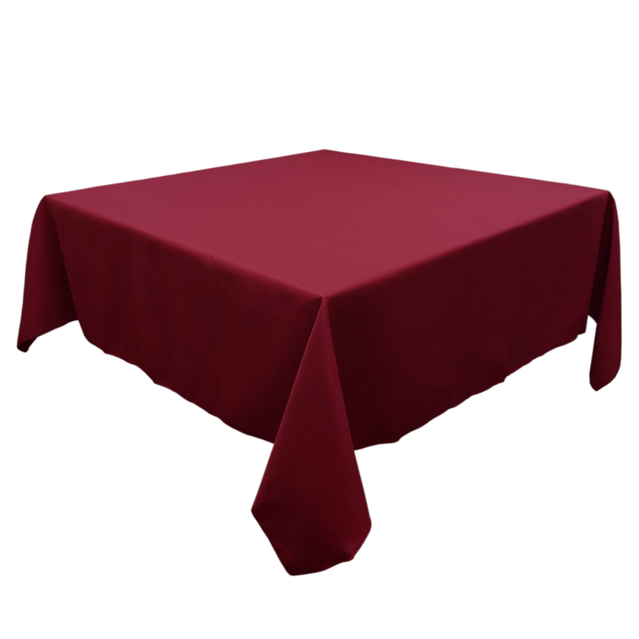 Maroon 90 in.  Square SimplyPoly Tablecloths