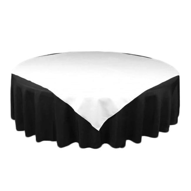 White 45 in.  Square SimplyPoly Tablecloths