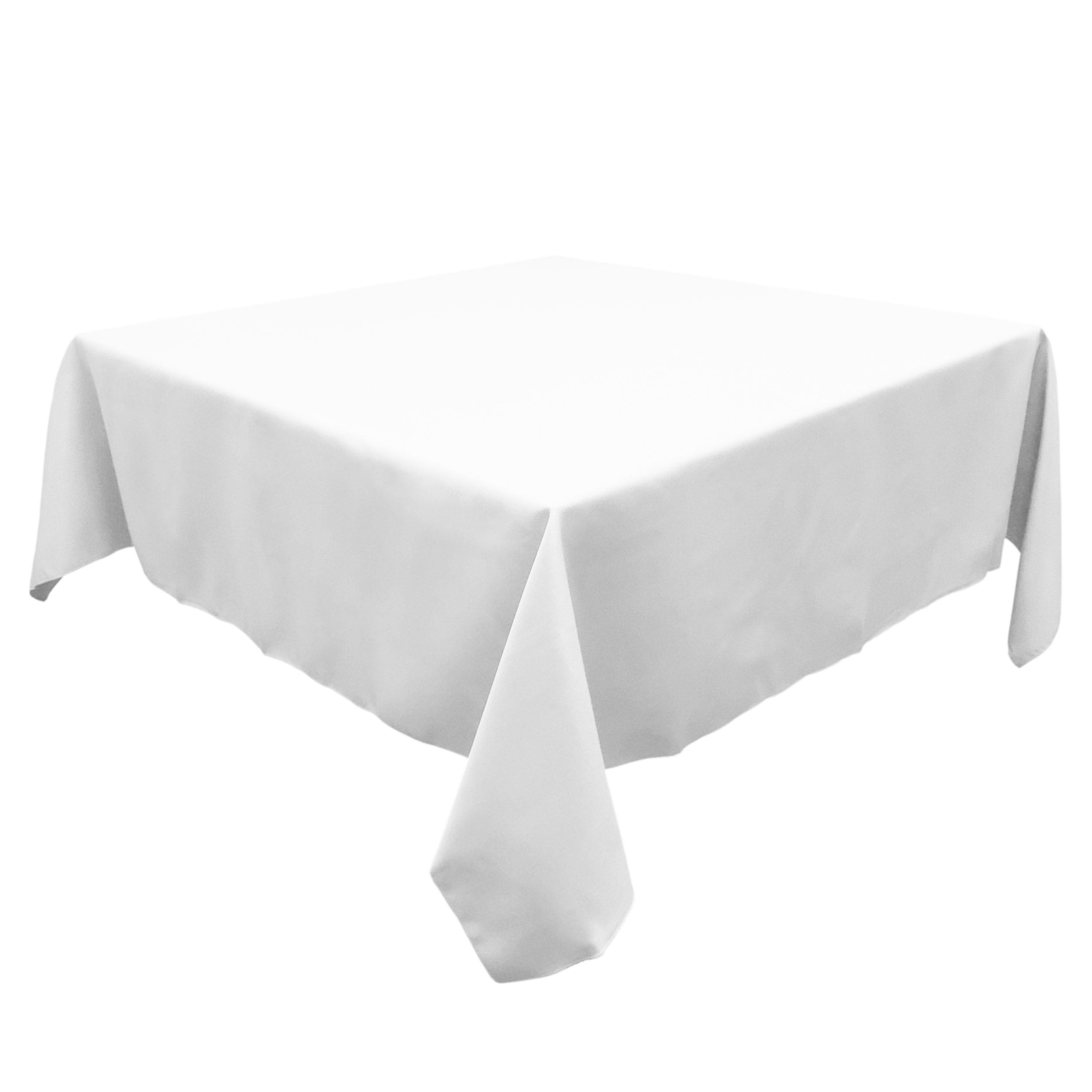 White 90 in.  Square SimplyPoly Tablecloths