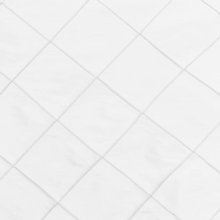 White 17 in. Pintuck Taffeta Cloth Napkins