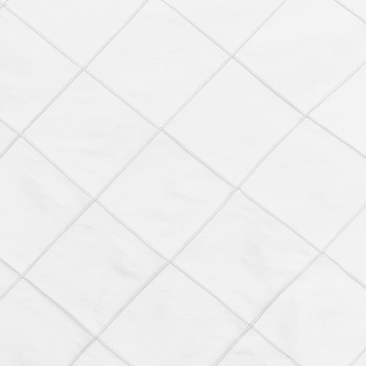 White 20 in. Pintuck Taffeta Cloth Napkins
