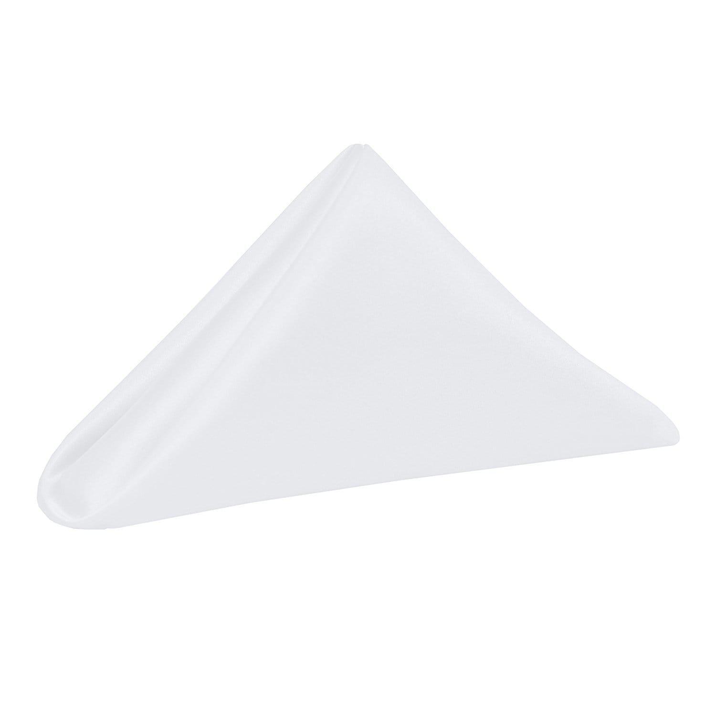 White 10 in. Duchess Cloth Napkins
