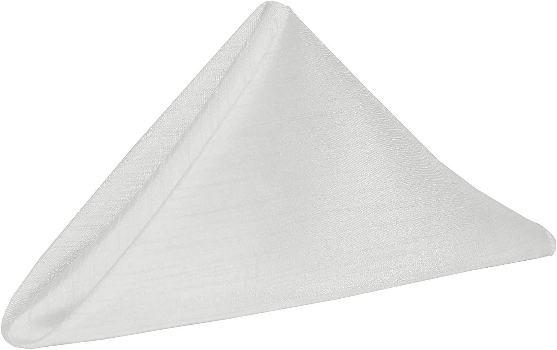 White 10 in. Majestic Cloth Napkins