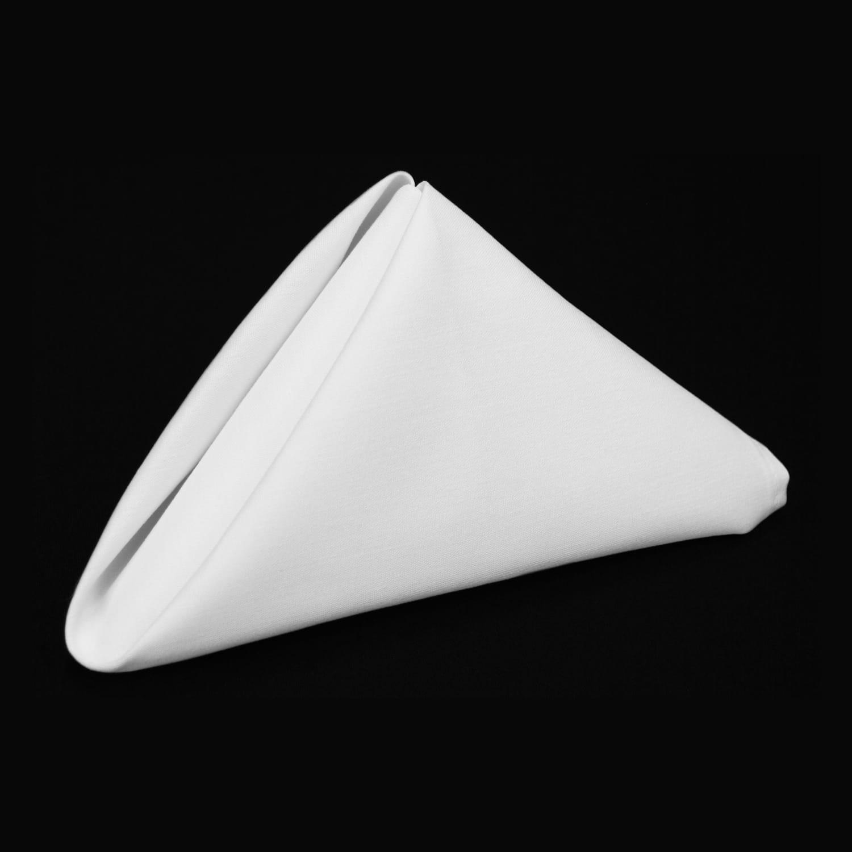White Signature Polyester Cloth Napkins