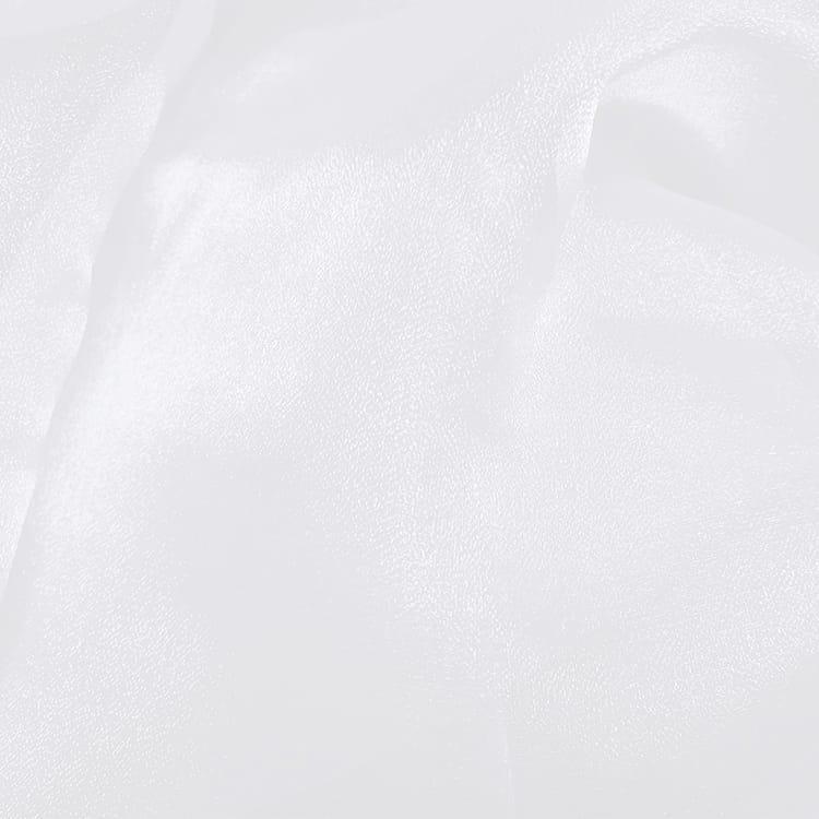 White 20 in. Sparkle Organza Cloth Napkins