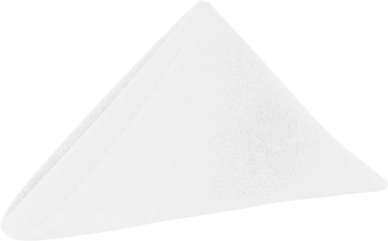 White 20 in. Spun Polyester Cloth Napkins