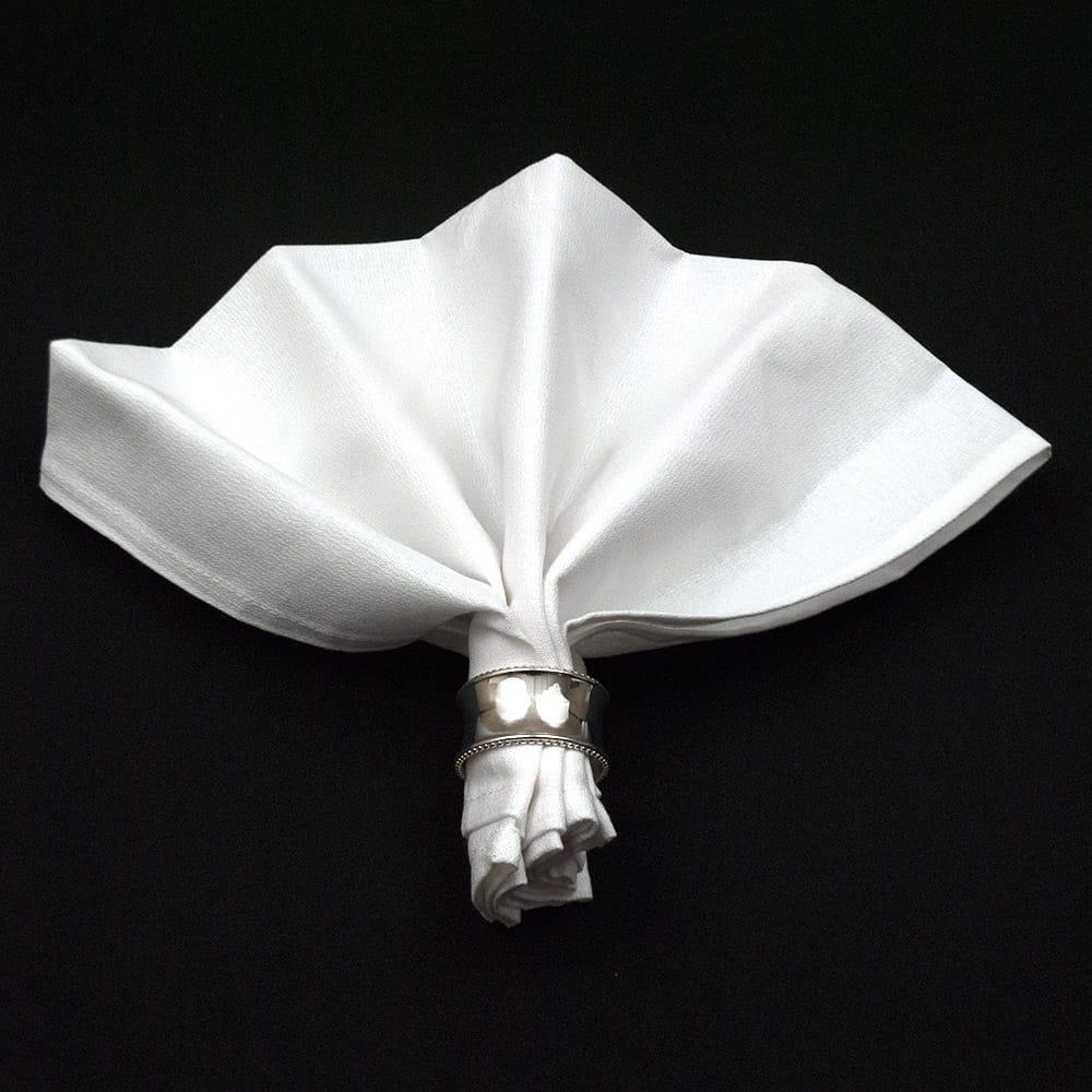 White Cotton Momie Cloth Napkins