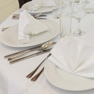 White 20 in. Infinity Cloth Napkins