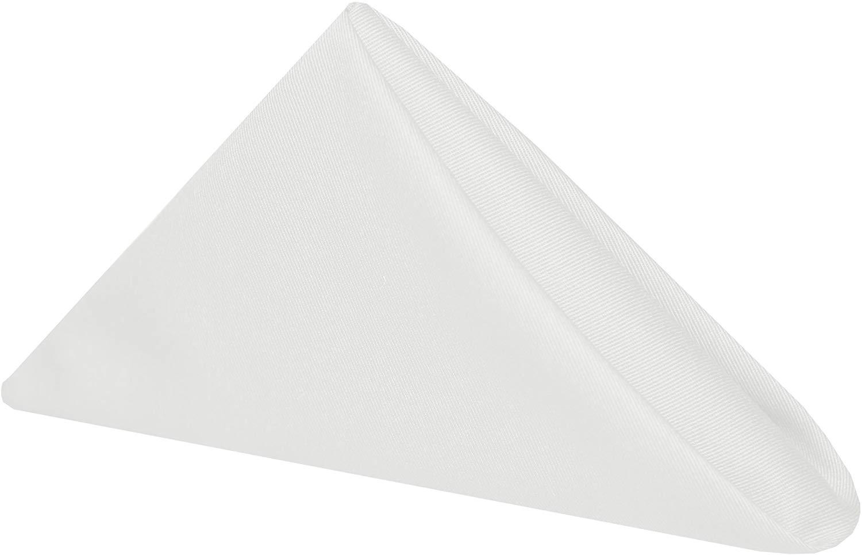 White 10 in. TwillTex Cloth Napkins