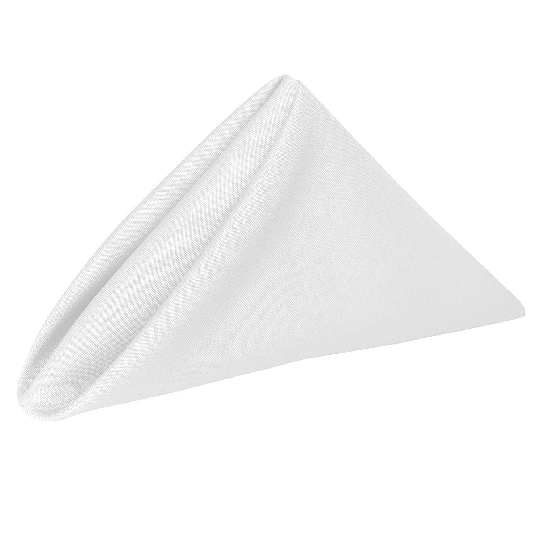 White 17 in. Basic Polyester Cloth Napkins