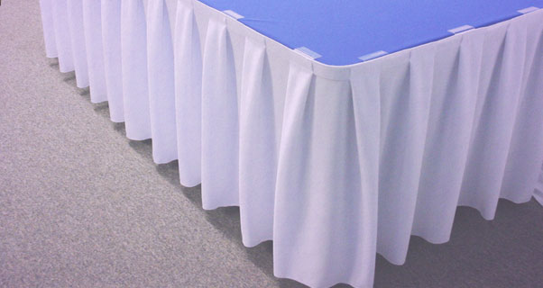 Box Pleat Table Skirting