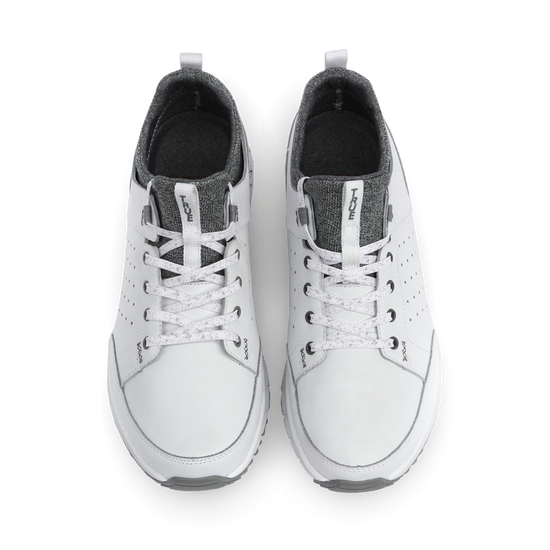 White TRUE Outsider full shoe dual pair top down