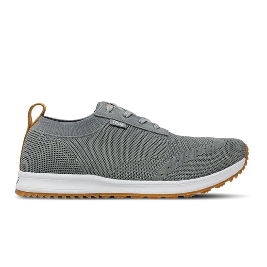 Stone grey TRUE Knit full shoe side view