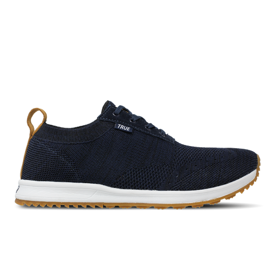 Deep blue TRUE Knit full shoe side view