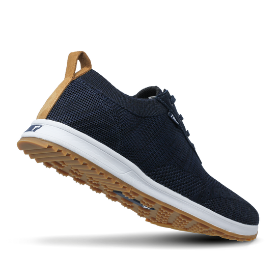 Deep Blue TRUE Knit full shoe heel flex