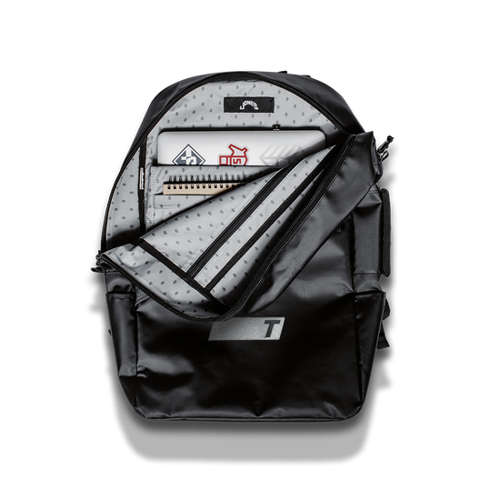 TRUE x Jones FC Daypack front side partially open