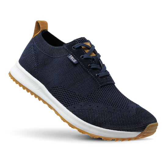 Navy Women's Knit full shoe toe flex