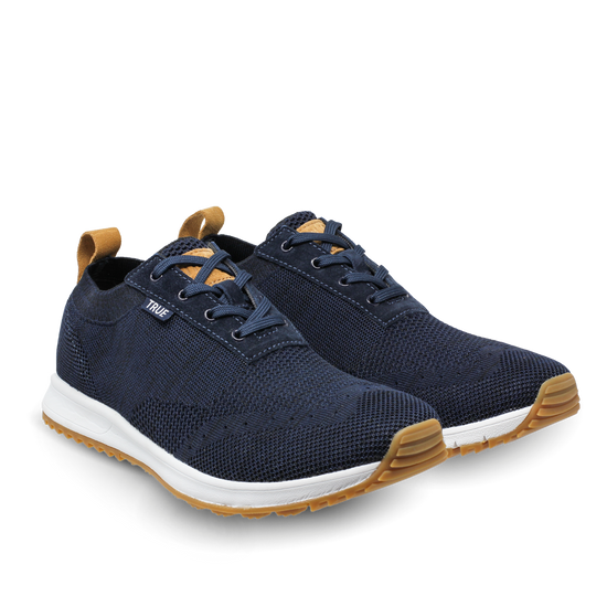 Navy Women's Knit dual shoes side view