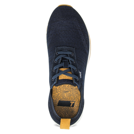 Navy Women's Knit full shoe top view