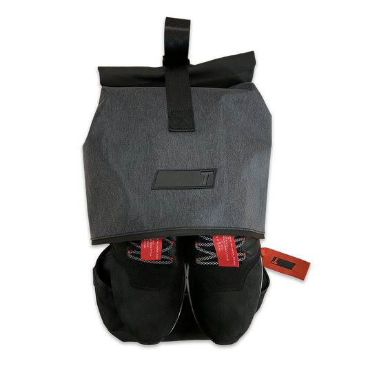 Open Black TRUE Major Shoe Bag Aerial View