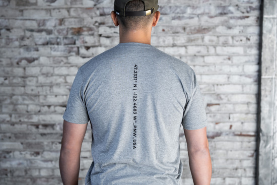 Coordinates Tee - Heather Grey