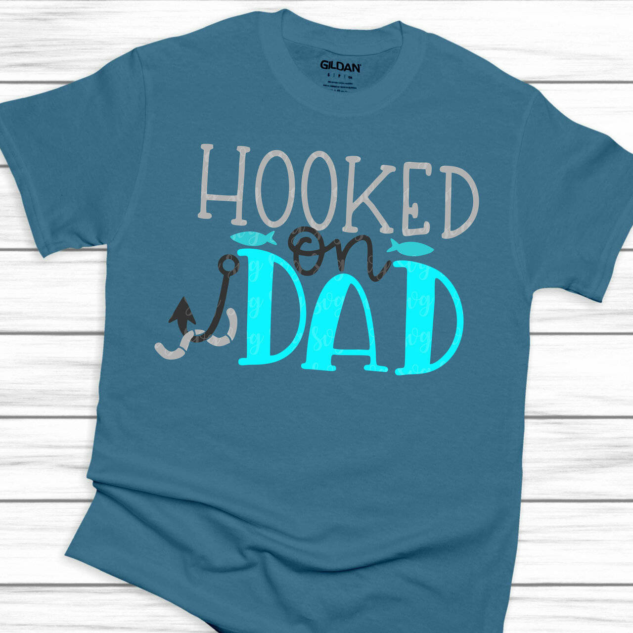 Download Hooked On Dad Svg Fishing Svg Fathers Day Svg Dad Svg Fathers Svg Daddy Svg Grandpa
