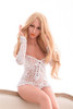Irontech Doll Olivia Sex Doll 155cm Hyper Realistic  Life Size Blonde Lovedoll With White Lingerie