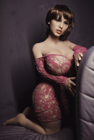 Wm Doll Léa Curvy Sex Doll 108cm L-Cup Huge Breasts Realistic Chubby Lovedoll With Pink Lingerie