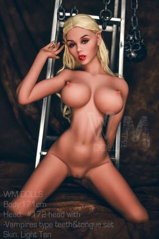Wm Doll Amira Sex Doll 171cm H-Cup Big Breasts Blonde Vampire Lovedoll