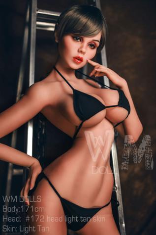 Wm Doll Cadey Sex Doll 171cm H-Cup Big Breasts Blonde Elf Lovedoll With Short Hair