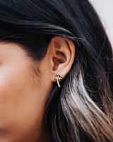 palm tree wood earrings
